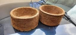 Vasos fibra de coco ** GRANDES **