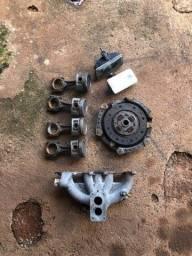 peças motor chevette coletor carburador biela pistao