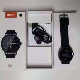 Smartwatch  HW21 Lançamento 2021..!!  Novo na Caixa Cor Prata/Cinza e Preto