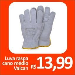 Luva raspa cano médio Valcan - Promoção= R$ 13,99