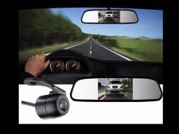 Espelho com câmera de rè instalado