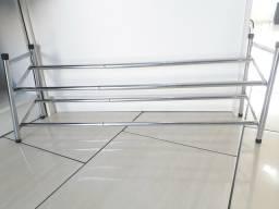 Sapateira de piso cromada extensível