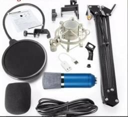 Kit Microfone + Pedestal - Home Studio - Boadcasting