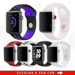 Pulseira Relógio Apple Watch 38mm/42mm Esporte Borracha Series 1, 2 e 3