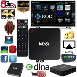 Smart TV Box MX9 4K com 16gb Rom 2gb Rom