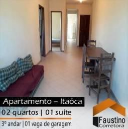 Ótimo apartamento na Avenida Principal de Itaóca, aproximadamente 150 metros do mar