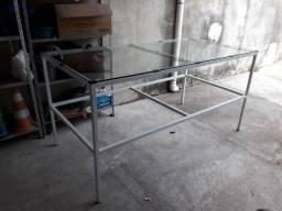 Mesa de Laminação (vidro laminado + estrutura) R$400,00