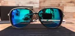 Óculos Oakley Split Time Azul/Chromo Polarizado - Importado e Novo