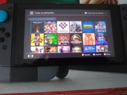 Nintendo Switch Desbloqueado 128 GB com case e caixa