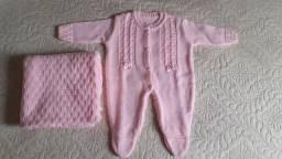 Saída Maternidade lindíssima em tricô
