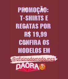 T-shirts e Regatas em PROMOÇÃO!!!