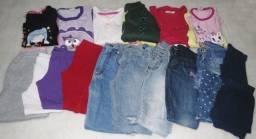 Lote de roupas menina 6 anos