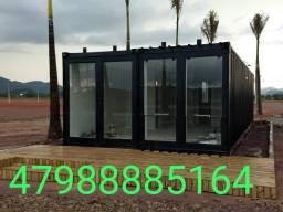 Projeto casa container 45m2 com 2 quartos em Ponta Grossa