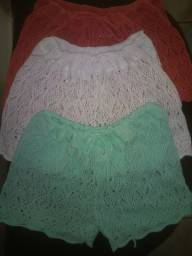 Short tricot saida de praia