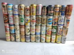 Coleção de latas cervejas todas cheias importadas e nacionais maioria de 1995
