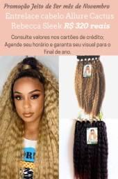 Entrelace de cabelo orgânico só R$ 320 reais