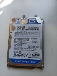 HD WD 500Gb para notebook