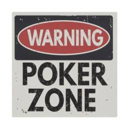 Placa Decorativa Poker Sobe MDF 40x40