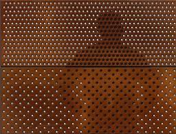 Painel enferrujado 1,20m x .60cm perfurada parede privacidade