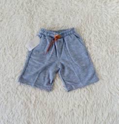 Lindos shorts em Moletom - Tamanhos de 2 a 10 Anos