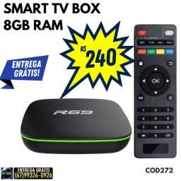 Smart TV Box 8GB Ram (entrega grátis)