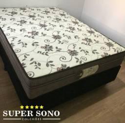 Conjunto Cama Box Style Probel Casal 138x188 Mola Ensacada