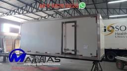 Camara fria 5.20m bau frigorifico baus novos e usados Mathias implementos