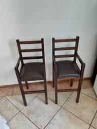 2 cadeiras infantis dellart parar estaurante ou uso em casa mesmo