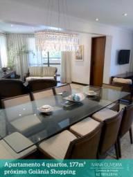 Apartamento 177m², sala 3 ambientes, próx. ao Goiânia Shopping, Jd. América. Alto padrão!