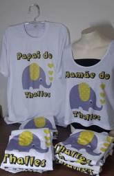 Camisas para chá de bebê elefantinho