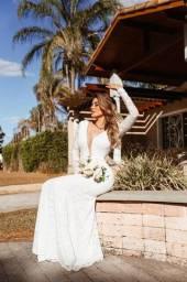 Vestido longo casamento civil regioso cartorio