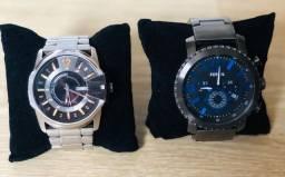 Relógio Disel e Fóssil