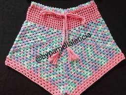 Short de crochê tamanho 42