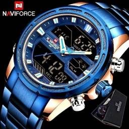 Relógio Masculino Naviforce Azul Àprova d'Água