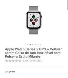 Apple Watch 5 44mm, pulseira de aço inoxidável