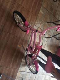 Bicicleta caloi infantil rosa