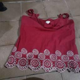 Blusa red flower