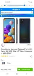 Vender se um smartphone samssung a21 s novo 10 dos de uso valor 1.280