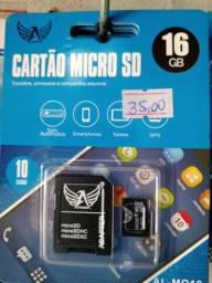 Cartões de Memória de 16 GB a 32GB - A partir de R$ 35,00