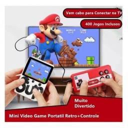 Mini Game boy retro Lcd 3 400 Jogos Portátil Av COM Controle novo ( aceitamos cartão)