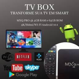TV Box 4 + 64 gb - Android 10 - Tranforme sua tv em smart