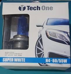 Lâmpadas Super Branca H4 55/60W Tech One