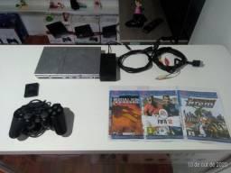 PlayStation 2 slim desbloqueado funciona perfeito entrega gratuita parcela até 12x