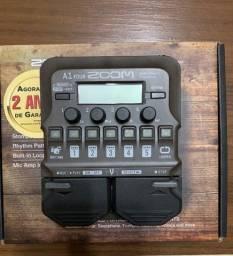 Pedaleira para violão - Zoom A1 FOUR + Adaptador de microfone + Fonte