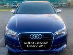 Audi A3 2.0 220CV Ambition 2016 com pneus novos, baixa quilometragem sem detalhe extra top