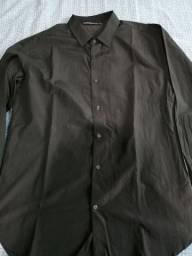 Camisa Social Grafite tamanho 4 Nunca Usada