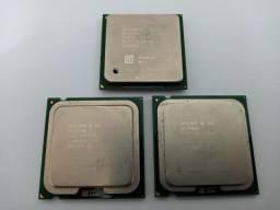 3 Processadores Intel antigos