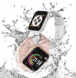 Smartwatch Iwo 6 W26 À Prova D' Água Android E Ios