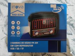Vendo Rádio Com Lanterna Retro Vintage Usb Sd Fm Am Aux Rad-8394