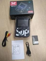 Game portátil retro recarregável 400 Jogos + Controle